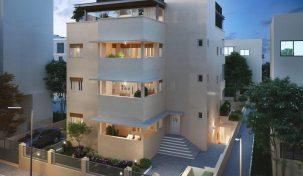 למכירה דירת גן 4 חדרים חדשה בקרבת החוף תל אביב