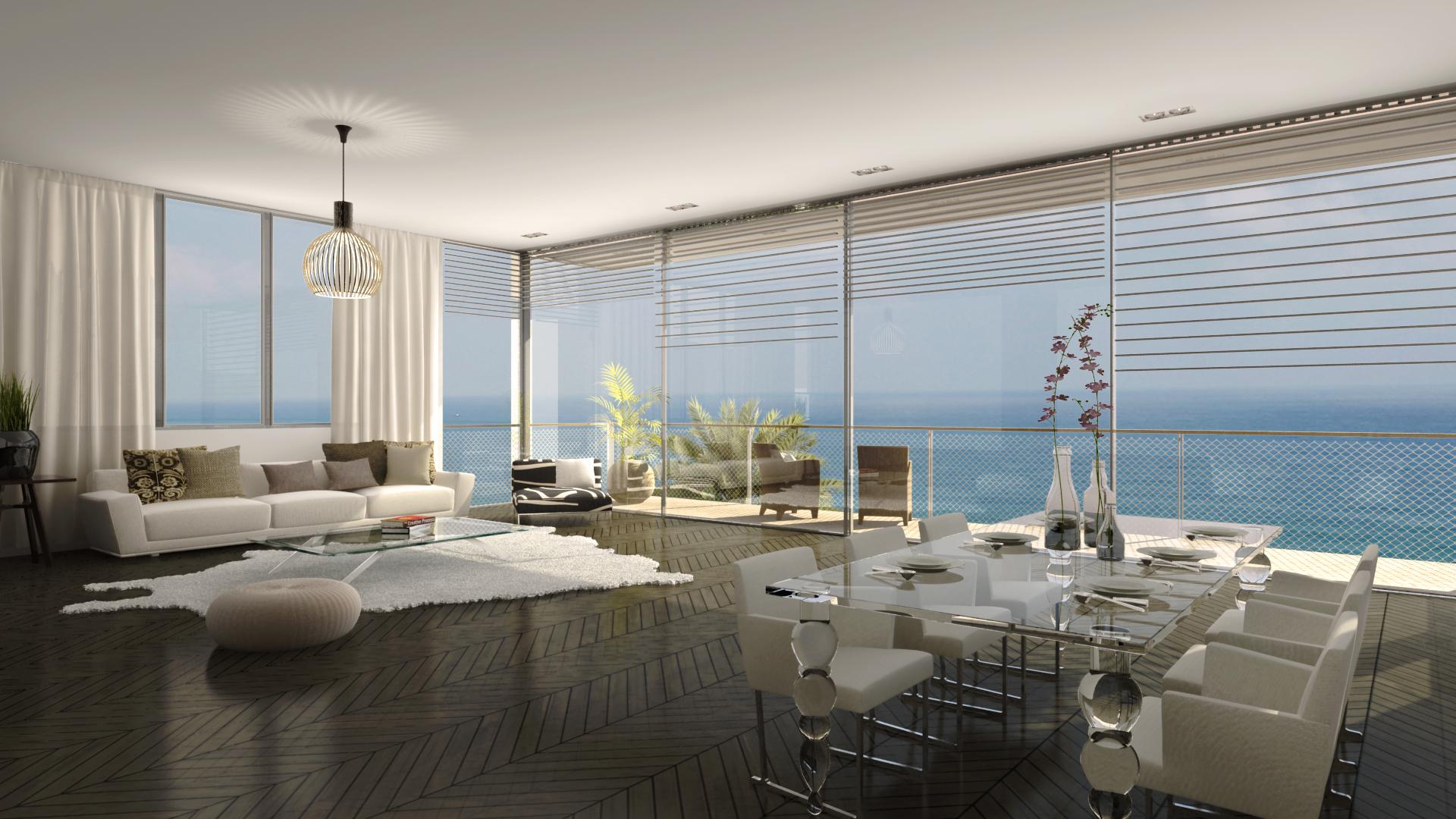דירת יוקרה בתל אביב נוף לים